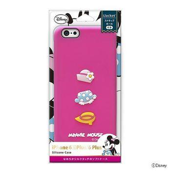iJacket 迪士尼 iPhone 6/6S Plus 5.5吋 浮雕矽膠系列 軟式保護套 - 米妮小手套