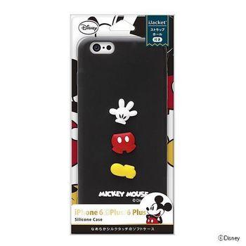 iJacket 迪士尼 iPhone 6/6S Plus 5.5吋 浮雕矽膠系列 軟式保護套 - 米奇小手套