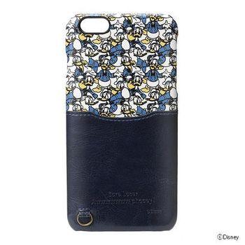 iJacket 迪士尼 iPhone 6/6S Plus 5.5吋 皮革口袋系列 硬式保護殼 - 跑跑唐老鴨
