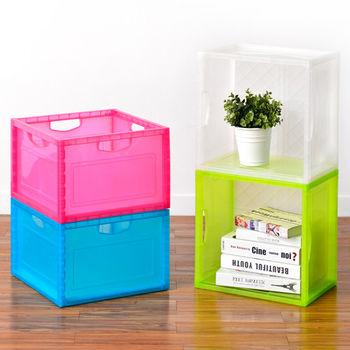 日本MAKINOU 透彩巧拼置物收納箱