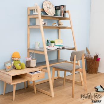 【諾雅度】原生實木階梯書桌椅組