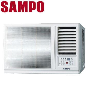 買就送【SAMPO聲寶】3-5坪定頻右吹窗型冷氣AW-PA122R
