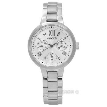CITIZEN 星辰表 WICCA / BH7-512-11 / 甜蜜戀愛魔鏡三環不鏽鋼腕錶 銀色 33mm