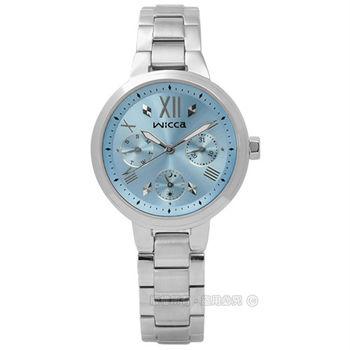 CITIZEN 星辰表 WICCA / BH7-512-71 / 甜蜜戀愛魔鏡三環不鏽鋼腕錶 藍色 33mm