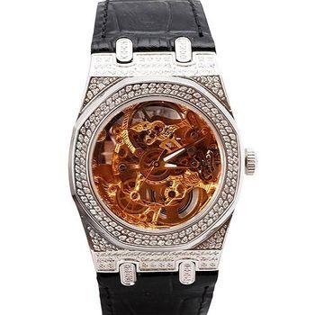 JL 爵儷皇家透明設計機械真鑽腕錶
