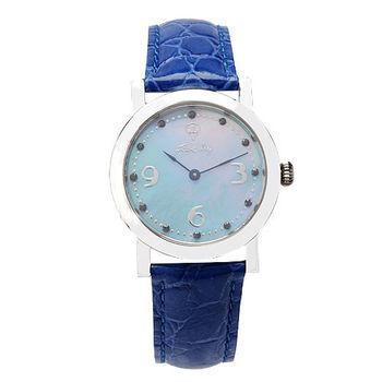 JL 爵儷繽紛藍鑽腕錶 (藍)