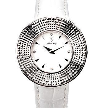 JL 星燦真鑽中性腕錶 (白)
