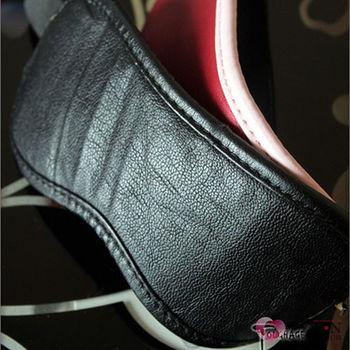 美國駭客 Toughage Soft Garment Leather Blindfold 軟皮眼罩 黑色