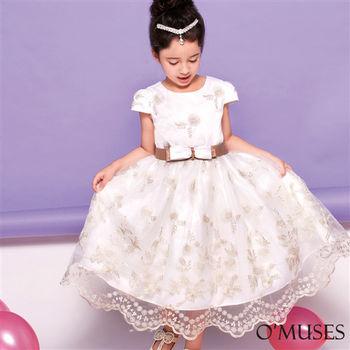 【OMUSES】法式蕾絲花童小禮服58-9261(100-140cm)