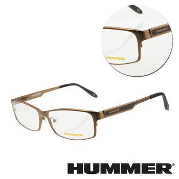 【HUMMER】鈦金屬全框棕色光學眼鏡(H1-1002-C3)
