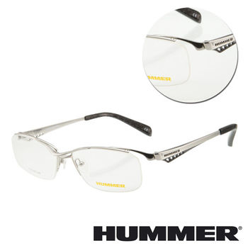 【HUMMER】鈦金屬眉框銀色光學眼鏡(H1-1000-C2)