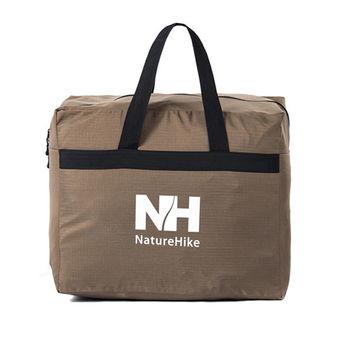 PUSH! 戶外休閒用品  露營裝備收納袋旅行包旅行袋提袋衣物包衣物袋45升(L)P83-1棕色