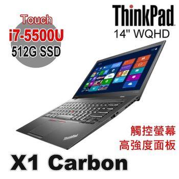 Lenovo 聯想 ThinkPad X1C 14吋 Touch WQHD i7-5500U 512G SSD Win7 Pro 觸控筆電 X1 Carbon