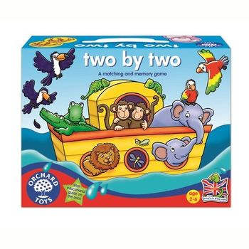 英國Orchard Toys 幼兒桌遊 動物配對諾亞方舟遊戲 two by two