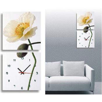 【TIME ART】靜音機芯二聯式時鐘 無框畫鐘 一畫一掛鐘 50*50*3.5cm 可訂製 S2-008