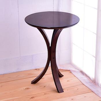 【凱堡】 實木圓型電話架茶几架側桌小桌