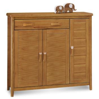 顛覆設計 絲莉愛4尺柚木實木鞋櫃