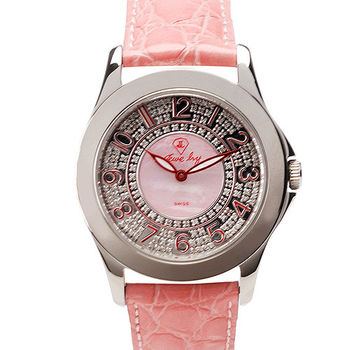 JL 亮彩鑽腕錶-(珊瑚粉)