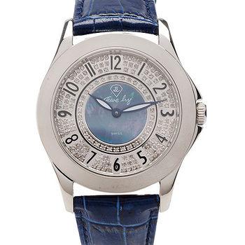 JL 亮彩鑽腕錶-(深寶藍)