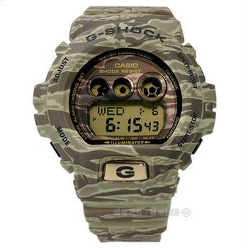 G-SHOCK CASIO / GD-X6900TC-5 卡西歐虎斑迷彩紋電子橡膠腕錶 綠色 50mm