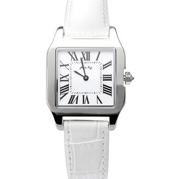 JL 星橋坦克女性腕錶(白)