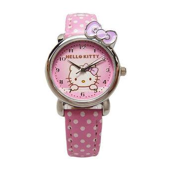 Hello Kitty 可愛俏皮蝴蝶結第二波時尚造型腕錶-紫色-KT012LWVP-1