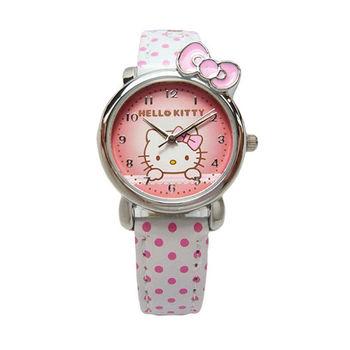 Hello Kitty 可愛俏皮蝴蝶結第二波時尚造型腕錶-白色-KT012LWPW-1
