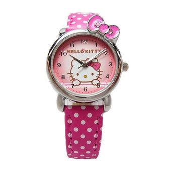 Hello Kitty 可愛俏皮蝴蝶結第二波時尚造型腕錶-紅色-KT012LWPR-1