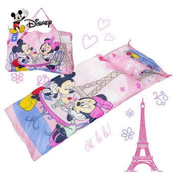 米奇 浪漫巴黎 粉 兒童睡袋 標準