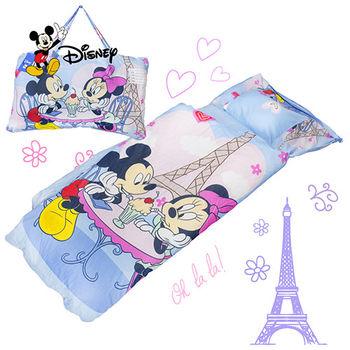 米奇 浪漫巴黎 藍 兒童睡袋 標準