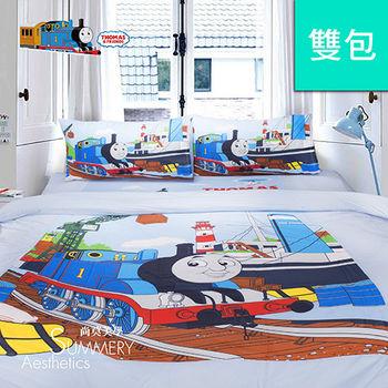 Summery_湯瑪士小火車 港口篇 雙人床包三件組