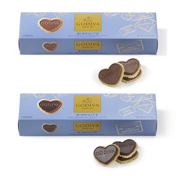 【 GODIVA】巧克力餅乾系列-草莓牛奶巧克力 + 松露黑巧克力