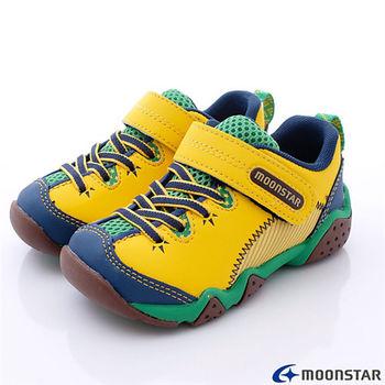 日本Carrot機能童鞋-美式綁帶設計休閒款-KC3963黃-(15cm-19cm)