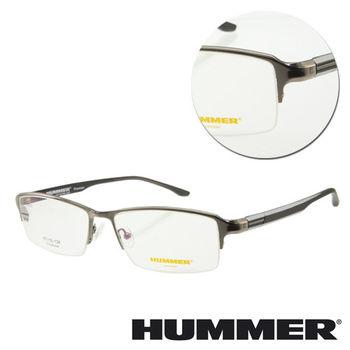 【HUMMER】鈦金屬半框槍色光學眼鏡(H07-30013-C03)
