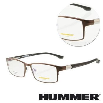 【HUMMER】鈦金屬全框棕色木紋光學眼鏡(H07-30002-C03)