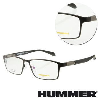 【HUMMER】鈦金屬全框黑色木紋光學眼鏡(H07-30001-C01)