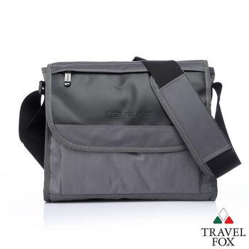 Travel Fox 旅狐歐格納鑽紋側背包(灰)(TB599-13)