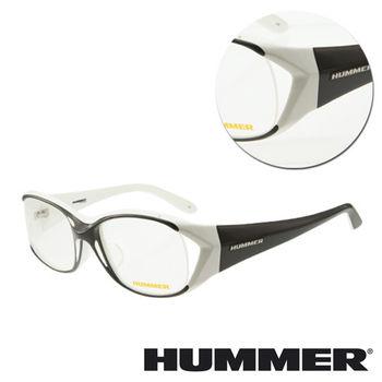 【HUMMER】大粗框黑混白光學眼鏡(H2-1008-C2)