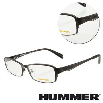 【HUMMER】鈦金屬全框黑色光學眼鏡(H1-1005-C1)