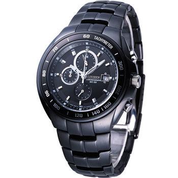 星辰 CITIZEN OXY系列競速三眼計時腕錶 AN4019-52E