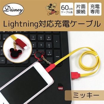 迪士尼 Apple認證 Lighting USB造型傳輸線 - 米奇