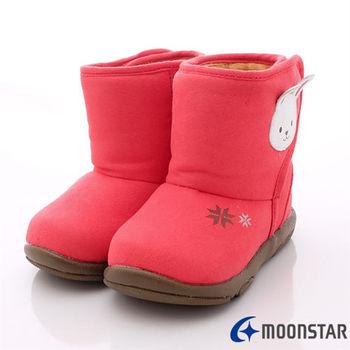 日本Carrot機能童鞋-可愛兔雪靴款(寶寶段)-NB122紅-(13cm-14.5cm)