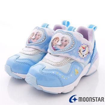 日本Carrot機能童鞋-冰雪奇緣機能款-NC11589藍-(15cm-19cm)