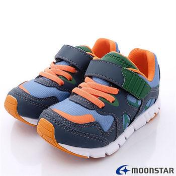 日本Carrot兒茶素系列童鞋-清新配色機能款TSKC82A9藍灰-(17cm-20cm)