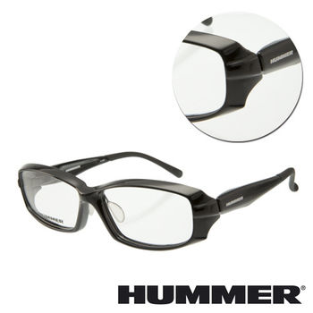 【HUMMER】粗框黑色光學眼鏡(H951-BK)