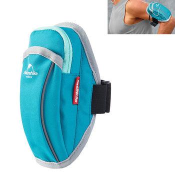 PUSH! 戶外休閒用品跑步包手機臂包袋手機臂套袋 U36-藍色