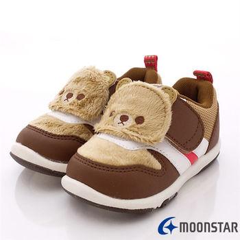日本Carrot機能童鞋-刷毛可愛熊熊機能款(寶寶段)-KB3813咖-(12.5cm-14cm)