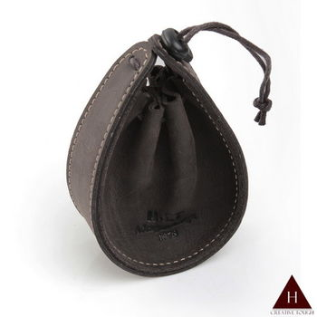 【H-CT】水滴款束口設計真皮零錢包(PUM02-Z)
