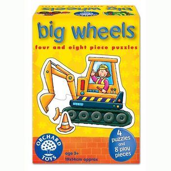 英國Orchard Toys 幼兒學習拼圖 工程車系列 big wheels