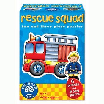 英國Orchard Toys 幼兒學習拼圖 緊急救援交通工具 Rescue Squad